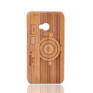 preiswerte Handyhüllen-Hülle Für HTC Stoßresistent Rückseite Geometrische Muster Hart Bambus für HTC One M7
