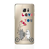 halpa Uudet tuotteet-Etui Käyttötarkoitus Samsung Galaxy S8 Plus S8 Kuvio Takakuori Kissa Pehmeä TPU varten S8 Plus S8 S7 edge S7 S6 edge plus S6 edge S6