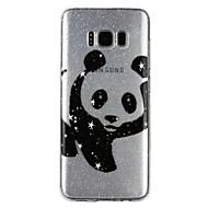 Недорогие Чехлы и кейсы для Galaxy S-Кейс для Назначение SSamsung Galaxy S8 S7 Полупрозрачный С узором Рельефный лакировка Кейс на заднюю панель Панда Сияние и блеск