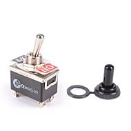 Недорогие Выключатели-водонепроницаемый переключатель переключения передач 12v вкл. / выкл. приборная панель светлый металл 12 вольт dpst