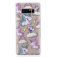 Funda Para Samsung Galaxy Nota 8 Diseños Cubierta Trasera Unicornio Suave TPU para Note 8