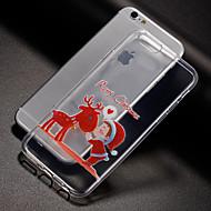 Недорогие Кейсы для iPhone 8-Кейс для Назначение Apple iPhone X iPhone 8 iPhone 8 Plus Кейс для iPhone 5 iPhone 6 iPhone 7 С узором Кейс на заднюю панель Рождество