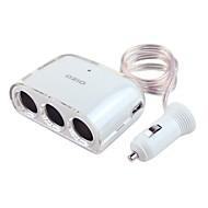 Недорогие Автомобильные зарядные устройства-быстрая зарядка 3 порта USB зарядное устройство только dc 5v / 2.1a