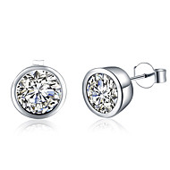 cheap Jewelry & Watches-Women's Crystal Stud Earrings - Silver Plated Fashion Silver For Wedding / Daily