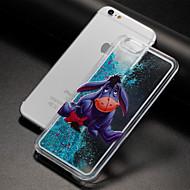 Недорогие Кейсы для iPhone 8-Назначение iPhone X iPhone 8 Чехлы панели Движущаяся жидкость Прозрачный С узором Задняя крышка Кейс для Мультипликация Твердый пластик