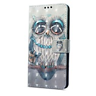 Недорогие Чехлы для телефонов-Кейс для Назначение Xiaomi Redmi Примечание 5A Redmi Note 4X Бумажник для карт Кошелек со стендом Флип Магнитный С узором Сова Твердый для