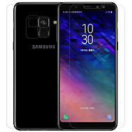お買い得  Samsung 用スクリーンプロテクター-スクリーンプロテクター Samsung Galaxy のために A8+ 2018 PET 強化ガラス 2 PCS ミニ フロント&バック&カメラレンズプロテクター スクリーンプロテクター アンチグレア 指紋防止 傷防止 防爆 硬度9H ハイディフィニション(HD)