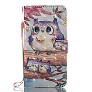 Недорогие Чехлы и кейсы для Galaxy J3-Кейс для Назначение SSamsung Galaxy J5 (2017) J3 (2017) Бумажник для карт Кошелек со стендом Флип Магнитный С узором Чехол Сова Твердый