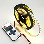 voordelige LED-verlichtingsstrips-ZDM® 120 LEDs 1M LED Strip Light 1 11-toetsen afstandsbediening Warm wit Koel wit Blauw Knipbaar Zelfklevend Koppelbaar DC 12V