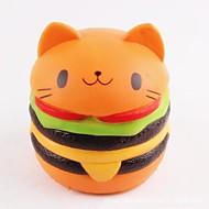 お買い得  -LT.Squishies スクイーズおもちゃ フード&ドリンク / ネコ / ハンバーガー オフィスデスクのおもちゃ / ストレスや不安の救済 / 減圧玩具 男女兼用 ギフト