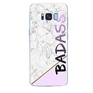 Недорогие Чехлы и кейсы для Galaxy S-Кейс для Назначение SSamsung Galaxy S8 Plus S8 С узором Задняя крышка Слова / выражения Мрамор Мягкий TPU для S8 Plus S8 S7 edge S7 S6