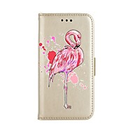 Недорогие Кейсы для iPhone 8-Кейс для Назначение Apple iPhone X iPhone 8 Бумажник для карт Кошелек со стендом Чехол Фламинго Твердый Искусственная кожа для iPhone X