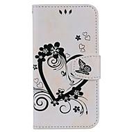 Недорогие Чехлы и кейсы для Galaxy J1-Кейс для Назначение SSamsung Galaxy J7 (2017) J5 (2017) Бумажник для карт со стендом Флип С узором Рельефный Чехол С сердцем Твердый Кожа