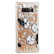 tanie Etui / Pokrowce do Samsunga Galaxy Note-Kılıf Na Samsung Galaxy Note 8 Odporne na wstrząsy Z płynem Wzór Czarne etui Pies Miękkie TPU na Note 8