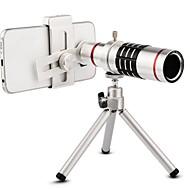 halpa Matkapuhelimen objektiivi-Matkapuhelin Lens Pitkäpolttovälinen objektiivi 18X-makro 3m 70 Jalustalla