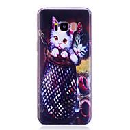Недорогие Чехлы и кейсы для Galaxy S8 Plus-Кейс для Назначение SSamsung Galaxy S8 Plus S8 IMD С узором Задняя крышка Кот Мягкий TPU для S8 Plus S8 S7 edge S7 S6 edge S6 S5