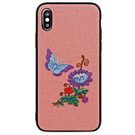 Недорогие Кейсы для iPhone 8-Кейс для Назначение Apple iPhone X iPhone 8 С узором Кейс на заднюю панель Бабочка Пейзаж Цветы Мягкий ТПУ для iPhone X iPhone 8 Pluss
