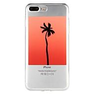 Недорогие Кейсы для iPhone 8 Plus-Кейс для Назначение Apple iPhone 6 iPhone 7 Полупрозрачный С узором Рельефный Кейс на заднюю панель дерево Мультипликация Мягкий ТПУ для