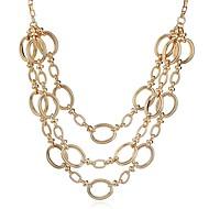 abordables Collares a Capas-Mujer Collares de cadena / Collares en capas - Moda, De Gran Tamaño Dorado, Plata Gargantillas Joyas 1 Para Diario, Trabajo