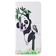 Недорогие Чехлы и кейсы для Galaxy Note-Кейс для Назначение Samsung Note 8 Бумажник для карт Кошелек со стендом Флип Магнитный Чехол Панда Твердый Кожа PU для Note 8