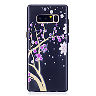 Недорогие Чехлы и кейсы для Galaxy Note 8-Кейс для Назначение SSamsung Galaxy Note 8 Рельефный С узором Цветы Мягкий для SSamsung Galaxy