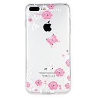 Недорогие Кейсы для iPhone 8-Кейс для Назначение Apple iPhone 6 iPhone 7 Стразы Рельефный Кейс на заднюю панель Цветы Мультипликация Мягкий ТПУ для iPhone 8 Pluss
