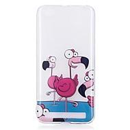 お買い得  携帯電話ケース-ケース 用途 Xiaomi Redmi 5A パターン バックカバー フラミンゴ ソフト TPU のために Redmi 5A