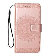 Недорогие Чехлы и кейсы для Galaxy Note-Кейс для Назначение SSamsung Galaxy Note 8 / Note 5 Флип / С узором Чехол Цветы Твердый Кожа PU для Note 8 / Note 5