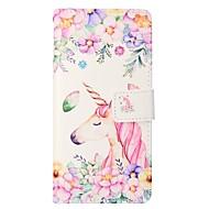 Недорогие Чехлы и кейсы для Galaxy S8 Plus-Кейс для Назначение SSamsung Galaxy S8 Plus S8 Бумажник для карт Кошелек со стендом Флип Магнитный Чехол единорогом Твердый Кожа PU для