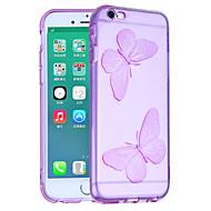 Недорогие Кейсы для iPhone 8-Кейс для Назначение Apple iPhone 8 iPhone 8 Plus Защита от удара Кейс на заднюю панель Бабочка Мягкий ТПУ для iPhone 8 Pluss iPhone 8