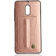お買い得  携帯電話ケース-ケース 用途 Nokia Nokia 6 Nokia 3 カードホルダー スタンド付き 純色 ハード のために