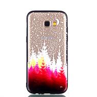 Недорогие Чехлы и кейсы для Galaxy A5(2017)-Кейс для Назначение SSamsung Galaxy A8 2018 A8 Plus 2018 Прозрачный С узором Рельефный Кейс на заднюю панель дерево Твердый ПК для