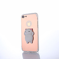 Недорогие Кейсы для iPhone 8-Кейс для Назначение Apple iPhone X iPhone 8 Зеркальная поверхность болотистый Своими руками Кейс на заднюю панель Мультипликация Животное