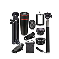 cheap Cell Phone Lens-Mobile Phone Lens Fish-Eye Lens Long Focal Lens Wide-Angle Lens Macro Lens Optical Glass 12X Macro 0.1 30 Fisheye Lens with Cup Stand
