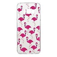 Недорогие Чехлы и кейсы для Galaxy S8-Кейс для Назначение S8 Ультратонкий / С узором Кейс на заднюю панель Фламинго Мягкий ТПУ для S8