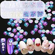 お買い得  ヘア、ネイル-ネイルキラキラ ぜいたく 宝石で飾られた 混色 模様 ネイルアートデザイン