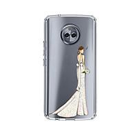 お買い得  携帯電話ケース-ケース 用途 Motorola E4 Plus 5 パターン バックカバー セクシーレディ ソフト TPU のために Moto X4 Moto E4 Plus Moto E4