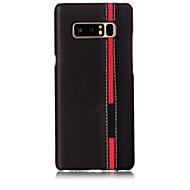 Недорогие Чехлы и кейсы для Galaxy Note 8-Кейс для Назначение SSamsung Galaxy Note 8 С узором Кейс на заднюю панель Полосы / волосы Твердый Кожа PU для Note 8