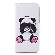 Недорогие Чехлы и кейсы для Galaxy S9-Кейс для Назначение SSamsung Galaxy S9 S9 Plus Бумажник для карт Кошелек со стендом Флип С узором Чехол Панда Твердый Кожа PU для S9 Plus