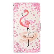 Недорогие Кейсы для iPhone 8-Кейс для Назначение Apple iPhone X iPhone 8 Plus Бумажник для карт Кошелек со стендом Флип Магнитный Чехол Фламинго Твердый Кожа PU для