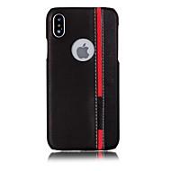 Недорогие Кейсы для iPhone 8 Plus-Кейс для Назначение Apple iPhone X iPhone 8 С узором Кейс на заднюю панель Полосы / волосы Твердый Кожа PU для iPhone X iPhone 8 Pluss