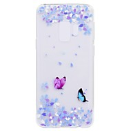 billige Galaxy S5 Mini Etuier-Etui Til Samsung Galaxy S9 S9 Plus Transparent Mønster Bagcover Sommerfugl Blødt TPU for S9 Plus S9 S8 Plus S8 S7 edge S7 S6 edge S6 S5