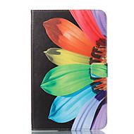 Недорогие Чехлы и кейсы для Galaxy Tab E 9.6-Кейс для Назначение SSamsung Galaxy Tab E 9.6 Кошелек / со стендом / Флип Чехол Цветы Твердый Кожа PU для Tab E 9.6
