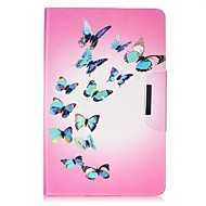 halpa Galaxy Tab 4 7.0 kotelot / kuoret-Etui Käyttötarkoitus Samsung Tab 4 7.0 Tab E 9.6 Korttikotelo Lomapkko Tuella Kuvio Automaattinen uni/herätystila Suojakuori Perhonen Kova