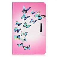 Недорогие Чехлы и кейсы для Galaxy Tab E 9.6-Кейс для Назначение Samsung Tab 4 7.0 / Tab E 9.6 Кошелек / Бумажник для карт / со стендом Чехол Бабочка Твердый Кожа PU для Tab 4 7.0 / Tab E 9.6 / Tab E 8.0