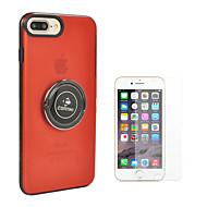 Недорогие Кейсы для iPhone 8-Кейс для Назначение Apple iPhone 8 iPhone 8 Plus Кольца-держатели Сплошной цвет Твердый ПК для iPhone 8 Pluss iPhone 8 iPhone 7 Plus