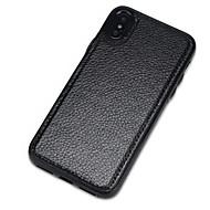 Недорогие Кейсы для iPhone 8-Кейс для Назначение Apple iPhone X iPhone 8 Защита от пыли Кейс на заднюю панель Сплошной цвет Твердый Кожа PU для iPhone X iPhone 8