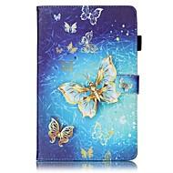 Недорогие Чехлы и кейсы для Galaxy Tab E 9.6-Кейс для Назначение SSamsung Galaxy Tab E 9.6 Кошелек / Бумажник для карт / со стендом Чехол Бабочка Твердый Кожа PU для Tab E 9.6