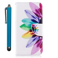 Недорогие Чехлы и кейсы для Galaxy S7-Кейс для Назначение Samsung S9 Plus S9 Кошелек Бумажник для карт со стендом Флип Магнитный Чехол Цветы Твердый Кожа PU для S9 S9 Plus S8