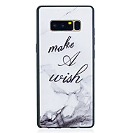 Недорогие Чехлы и кейсы для Galaxy Note 8-Кейс для Назначение SSamsung Galaxy Note 8 С узором Кейс на заднюю панель Слова / выражения / Мрамор Мягкий ТПУ для Note 8